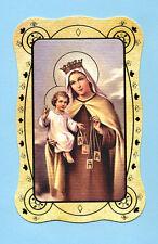 SANTINO  MADONNA DEL CARMELO   IMAGE PIEUSE - HOLY CARD SANTINI