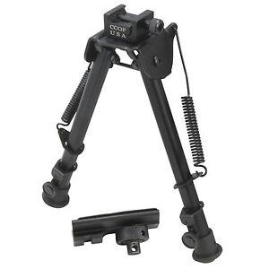 "CCOP USA 12"" Tactical Shooter Bipod Adjustable Spring Return Free Adapter BP-79M"
