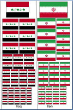 Iraqi & Iranian  Vehicle Identification  Decals 1/35 1/32 1/48 1/72 Iran Iraq