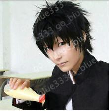 TT328 Hitman Reborn Xanxus Short Black Cosplay Stylish Anime Hair Wig