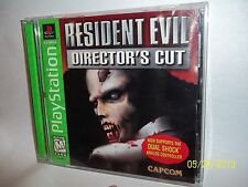 RARE PS1 GREEN LABEL RESIDENT EVIL DIRECTOR'S CUT COMPLETE BUY IT NOW FUN