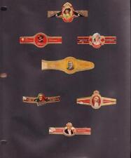 7 LOT VINTAGE CIGAR LABELS HOFNAR BRUGGE KARELI... WITH 3 HOLE PLASTIC COVER