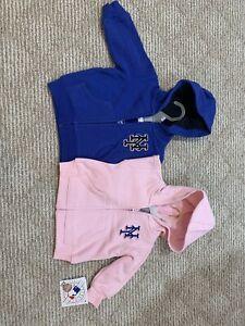 New York Mets Authentic Zip Up Hooded Sweatshirt Infant / Toddler Sizes