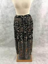Belma long skirt ONE size NEW rayon brown black Boho S M L XL
