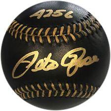 "Pete Rose ""4256"" Autographed Black Baseball (JSA)"