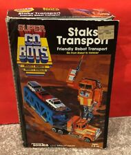 Rare Vtg 1985 Tonka Super GoBots Go-Bots Staks Transport 100% Complete in Box