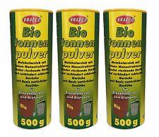3x500g Biotonnenpulver Mülleimer-Pulver Madenvernichter, gegen Maden Abfalltonne