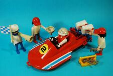Playmobil lancha carreras 3538 bateau course klicky vintage rar texaco racing