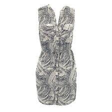 H&M Shirt Dress Safari Snake Print Button Up Pockets Cinched Waist Women's: SZ 6