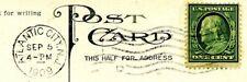 U.S. Postage Post Card Atlantic City W/1908 Benjamin Franklin 1 cent Stamp