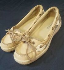 Women's Sperry Top-Sider size 4M Anglefish Leather Loafers Boat Shoes Moccasins