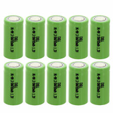 10x Exell 2/3Aa NiMh 700mAh 1.2V Flat top Rechargeable Battery