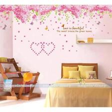 Pink Sakura Flower Wall Sticker Removable Wallpaper Girl Baby's Room DIY Decor