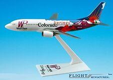 Western Pacific Colorado Boeing 737-300 Airplane Miniature Model Plastic Snap Fi