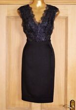 Monsoon Black Lace sera matita OCCASIONE Cocktail Party Dress Size 12