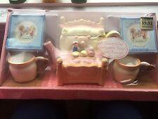 Mary's Bear Tea Set ~ Collectible Teapot & Teacups ~ Teddy Bear ~ Adorable! NEW!