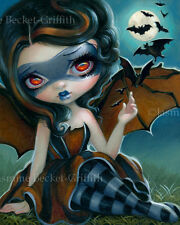 Jasmine Becket-Griffith art print italian bat girl superhero SIGNED Pipistrello