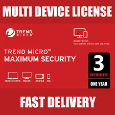 Trend Micro Maximum Security 2020 (3 Devices 1 Year) 15 seconds DELIVERY