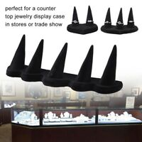 2/3/5 Finger Black Velvet Jewelry Rings Display Stand Holder Showcase Organizer
