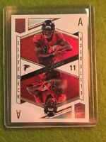 JULIO JONES REFRACTOR PRIZM ACE ATLANTA FALCONS 2018 Donruss Elite Deck #ED-5 SP