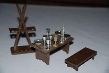 Playmobil 3262 medieval vajilla plata ritter knight vintage