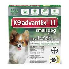 Professional Spot On Topical Flea & Tick Treatment for Dogs 4 to 10 lbs Green