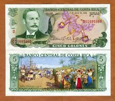 Costa Rica, 5 Colones, 7-4-1983, P-236d, UNC > orchids, seaport, market