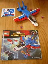 LEGO SUPER HEROS MARVEL: Captain America Jet Set 76076: avion seul : No Minifig.