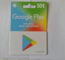 Google Play 50 Euro Guthaben Key Store Gutschein 50€ Eur Geschenkkarten - DE