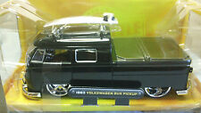 Jada Toys V-DUBS Collectors Club 1963 Volkswagen Bus Pickup Black 1/24 New