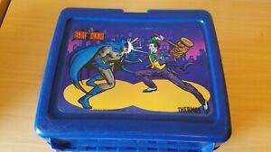 Bat Man 1982 Thermos Plastic Lunchbox Batman and Joker Good Condition!