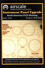 Airscale Decals 1/24 P-51D MUSTANG INSTRUMENT PANEL UPGRADE PE & Decals