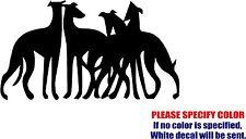 "GREYHOUNDS #2 Decal Sticker Dog Pets JDM Funny Vinyl Car Window Bumper Truck 12"""