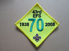 43rd EFS 70 Cloth Patch Badge Boy Scouts Scouting L3K D