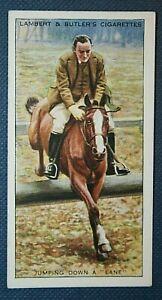 Horse Riding Skills   Lane Jumps   Original 1930's Card