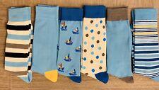 Men Dress Crew Socks Lot Total 6 Pairs Shoe Size 6-12