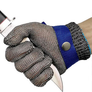 Safety Cut Proof Stab Resistant Stainless Steel Gloves Metal Mesh Butcher