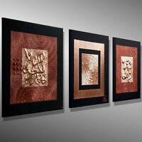 KUNST Gemälde modern Leinwand Bilder -MICO-  Bilder BILD abstrakt Metall Acryl