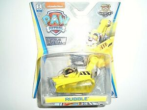 """Nickelodeon Paw Patrol True Metal Rubble - Mighty Pups Charged Up """"NEW"""""""