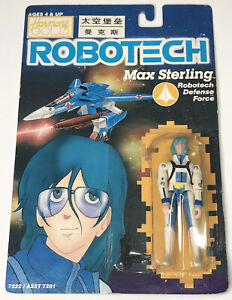 Vintage Anime ROBOTECH Harmony Gold Max Sterling Macross Manga Action Figure