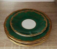 Weimar Porzellan Katharina 5  Dessertteller grün  eine Untertasse gratis