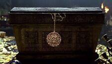 Pirates of Caribbean Cursed Aztec Coin Ancient Gold Colour Necklace Pendant