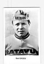 Bennie GROEN - Equipe BATAVUS - CYCLISME