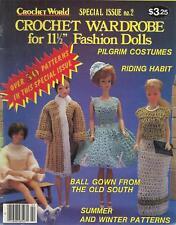 Vintage 1984 Crochet World Magazine Special Issue No.2  Fashion Doll Wardrobe