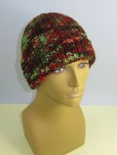 PRINTED INSTRUCTIONS-CHUNKY SELF STRIPING ALL RIB BEANIE HAT KNITTING PATTERN