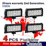 4 Pc 7inch CREE LED Light Bar Work for Off road Truck Boat Jeep Ford ATV SUV 4WD