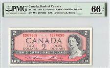 Canada 1954 BC-38d PMG Gem UNC 66 EPQ 2 Dollars (Lawson-Bouey)