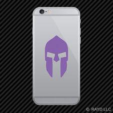(2x) Spartan Helmet Cell Phone Sticker Mobile sparta hoplite greece many colors