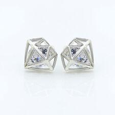 Moda Pendientes Crystal Hollow Diamond Pendiente Aretes Para Mujeres Regalo