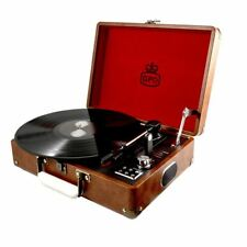GPO Attache Briefcase Style 3-Speed USB Portable Vinyl Turntable Record Player